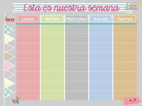 Calendario semanal gratis listo para descargar blog f de for Plantillas mr wonderful
