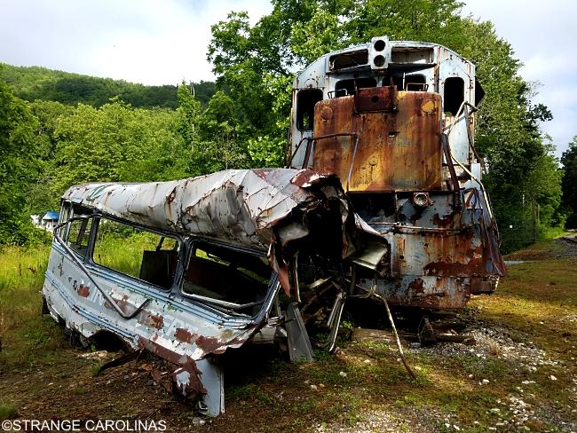 The Fugitive Train Wreck (Sylva, NC)   Strange Carolinas