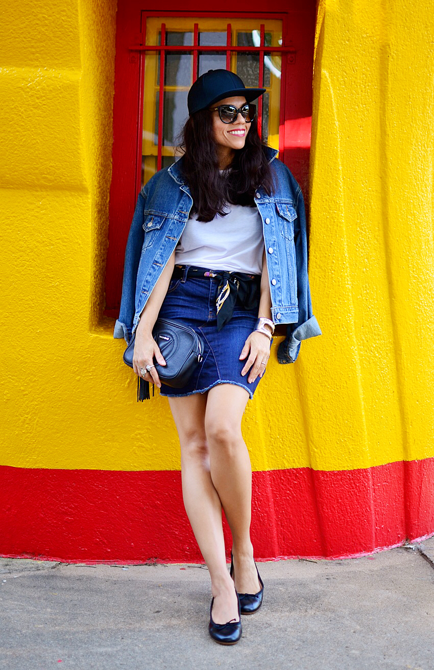 Denim on denim street style