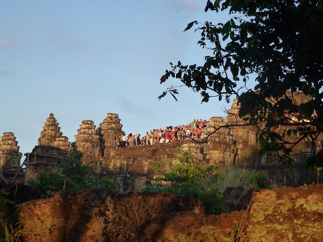 The stance of Angkor Wat relfecting on the H2O Travellers tips for Siem Reap, Cambodia
