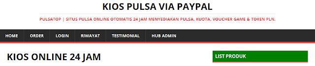 pulsa online via paypal
