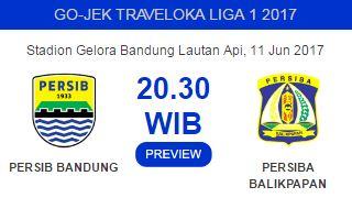 Prediksi Persib Bandung vs Persiba Balikpapan Minggu 11 Juni 2017