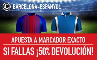 sportium promocion Barcelona vs Espanyol 9 septiembre