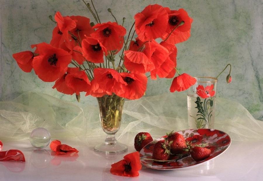 Jarrones de cristal con flores jarrn de cristal con - Jarrones de cristal con flores ...