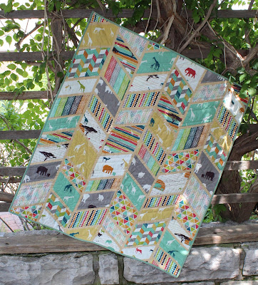 Chevron herringbone Split Arrows quilt pattern by Slice of Pi Quilts