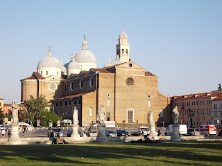 The vast Basilica di Santa Giustina overlooks Prato della Valle, one of Padova's main squares