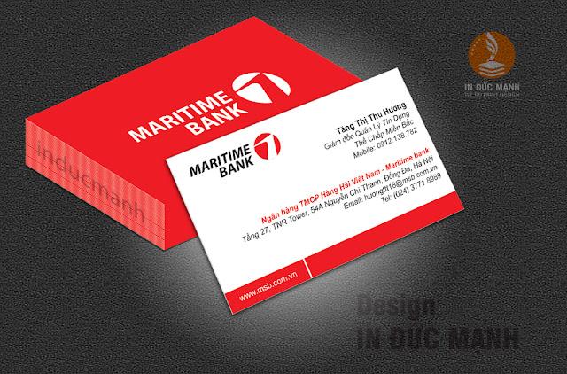 Thẻ card visit ngân hàng Maritime Bank