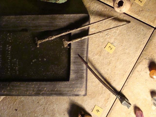 zabytki wczesnośredniowieczne z grodu i cmentarzyska w Gieczu - rylce