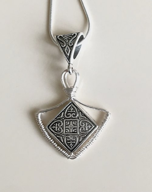 Easy Wire Wrapped Diamond Charm Pendant Tutorial - The Beading Gem\'s ...