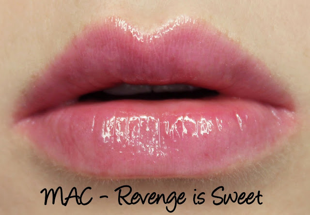MAC Monday: Venomous Villains - Revenge is Sweet Lipglass Swatches & Review