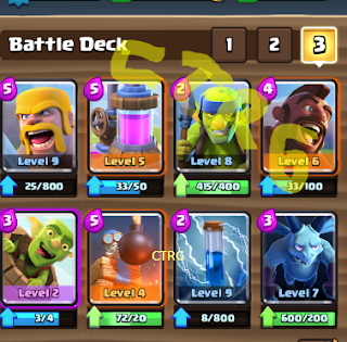 deck HOG rider push arena 678 clash royale