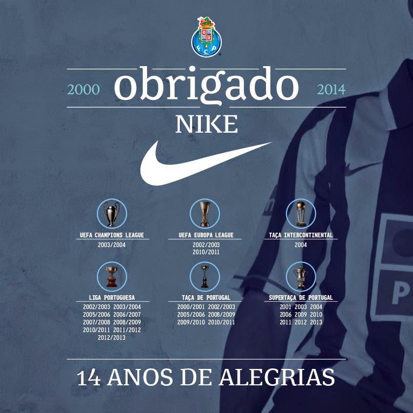 14 anos de ligação à Nike (fonte  FC Porto) c160542034578