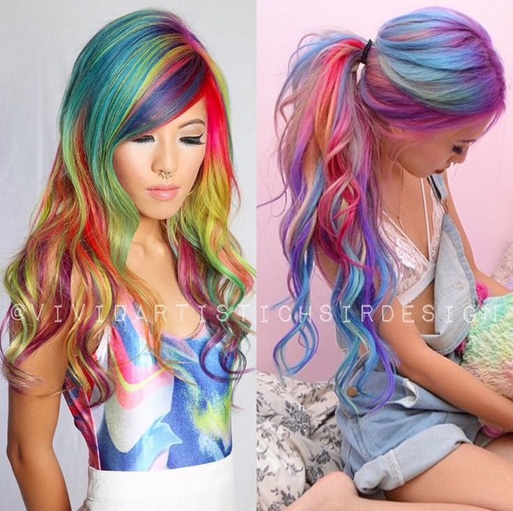 Multi Colored Hair Dont Care Images And Video Tutorials The