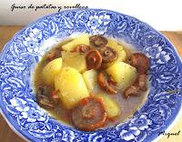 Guiso de patatas y rovellons