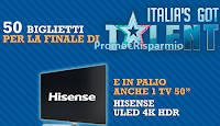 Logo Concorso ''Vinci con Old Wild West'': in palio 50 biglietti finale Italia's Got Talent e TV 50""