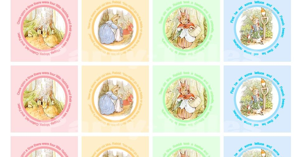 Party Tales Free Printables Peter Rabbit Cupcake