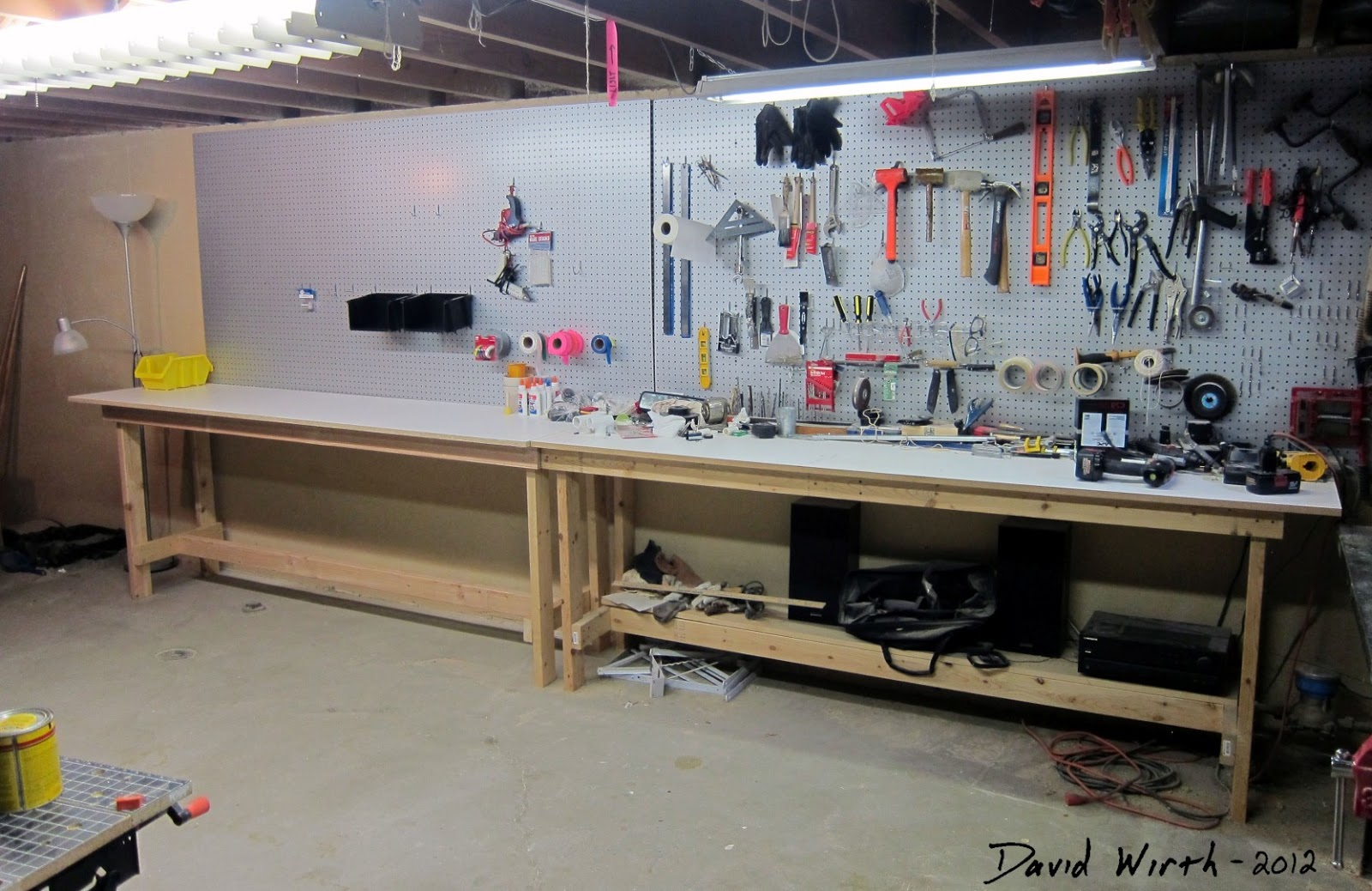 Workbench from 2x4 39 s easy build plans - Basement design tool ...