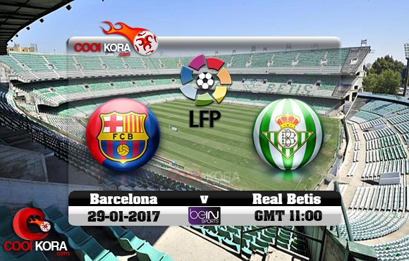 مشاهدة مباراة ريال بيتيس وبرشلونة اليوم 29-1-2016 في الدوري الأسباني