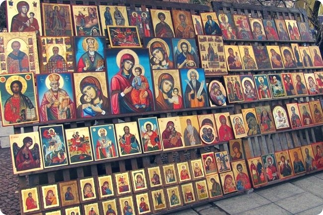 Painted icons in Sofia