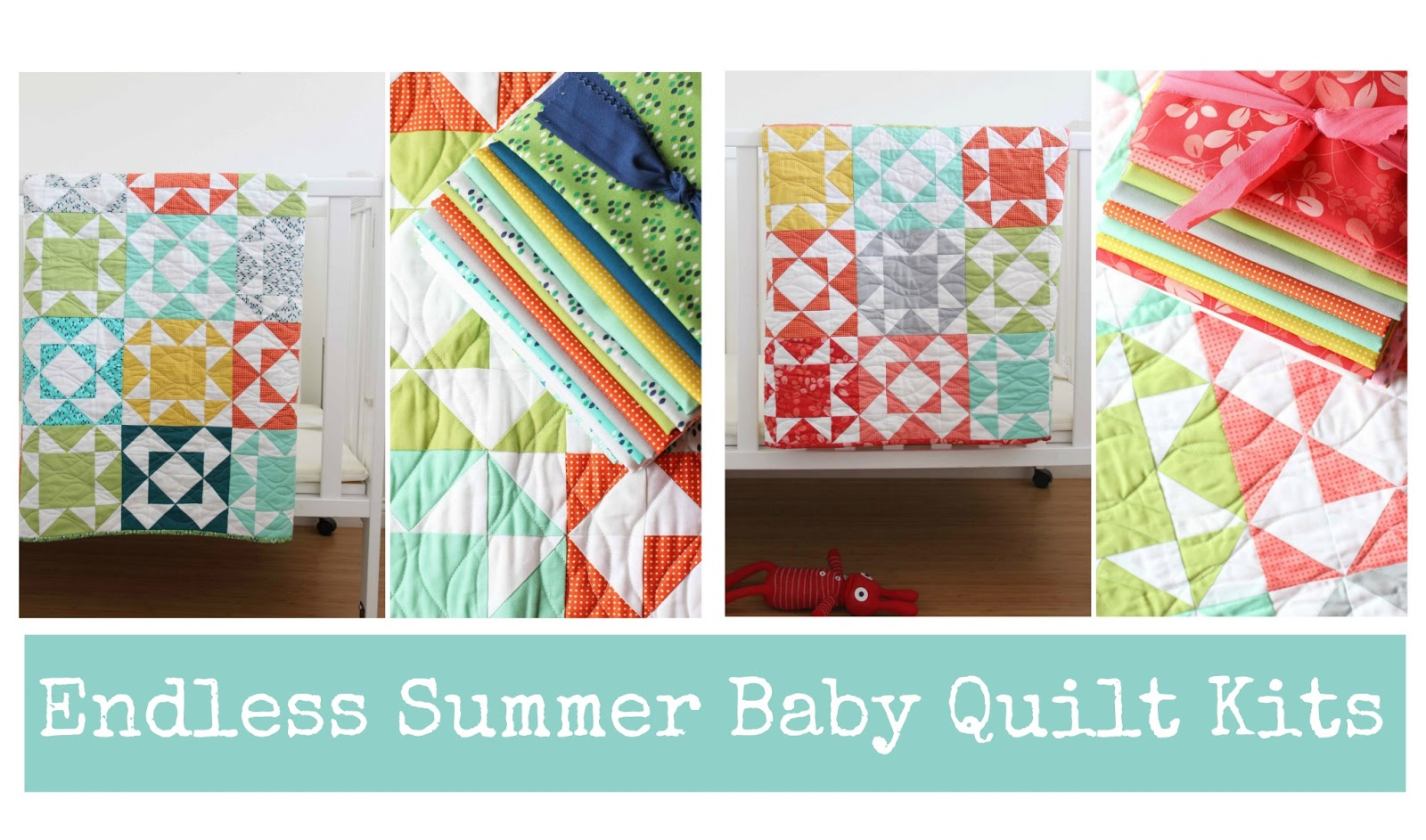 V and Co.: Endless Summer Baby Quilt Kits : kits for baby quilts - Adamdwight.com