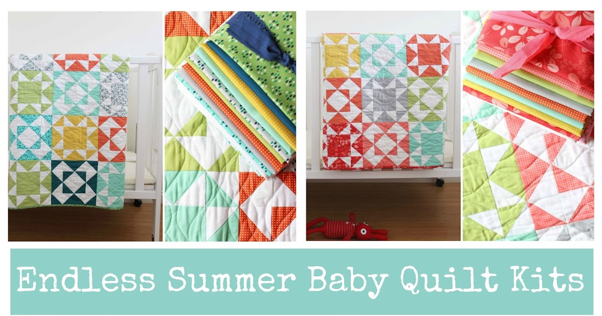 V and Co.: Endless Summer Baby Quilt Kits : baby quilting kits - Adamdwight.com