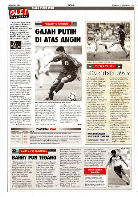 TIGER CUP 1998 THAILAND VS MYANMAR