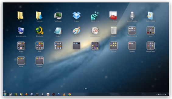How to Add and Use Mac OS X Lion Launchpad on Windows