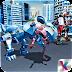 Futuristic Dino Robot Battle