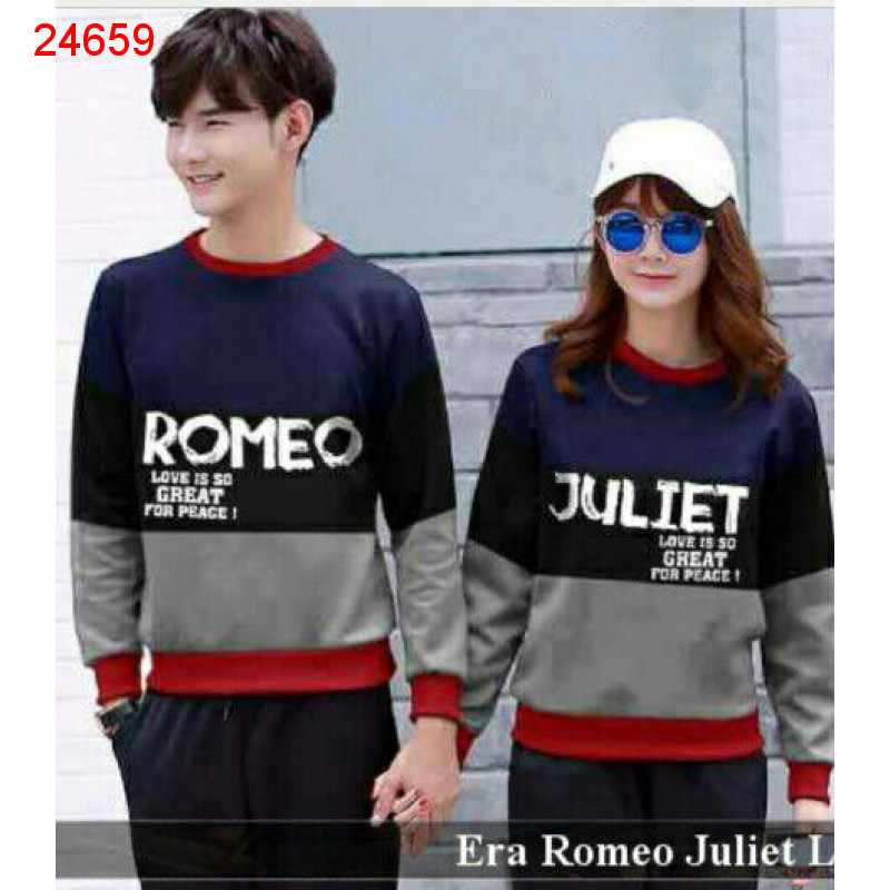Jual Sweater Couple Sweater Romeo Juliet Navy - 24659