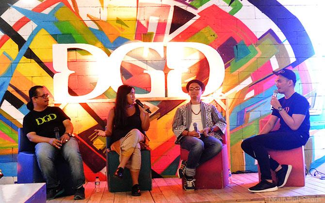 Bincang santai bersama Pak Arief, Kadek Arini & Paksi Raras Alit diacara Soft Launching DGD