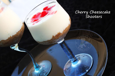 cherry cheesecake shooters for party quick dessert ayeshas kitchen
