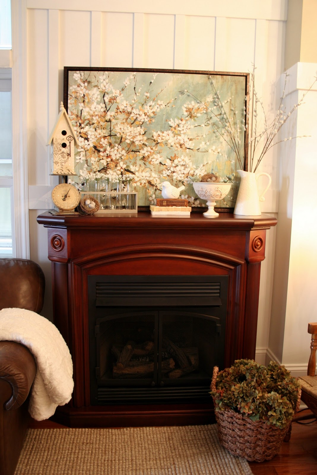 Spring Mantel Link Party