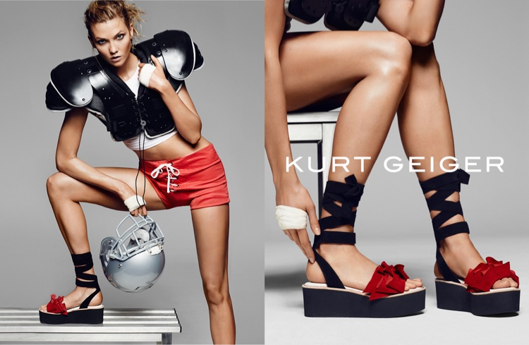 Karlie Kloss for Kurt Geiger SS16
