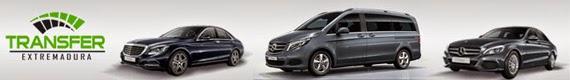 Transfer Extremadura, coche mercedes, minivan, taxi