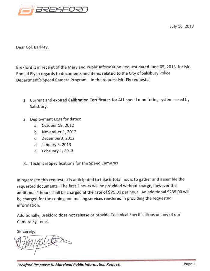 Maryland Drivers Alliance: July 2013