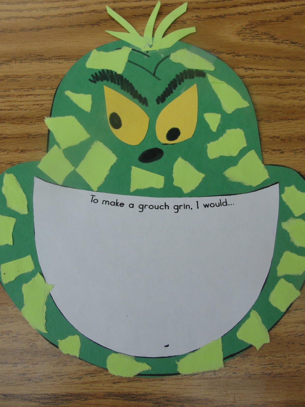 Grinch Writing 2nd Grade