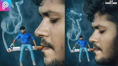 smoking miniature | PicsArt Editing |Manipulation Editing | picsart manipulation| movie poster.