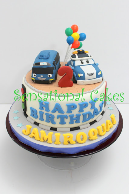 Robocar Poli Birthday Cake Singapore