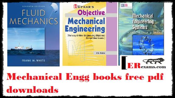 Mechanical Engg books free pdf downloads