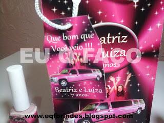limousine rosa, kit maquiagem limousine rosa, lembrancinha limousine rosa, brinde limousine rosa, personalizado limousine rosa, festa limousine rosa, limousine rosa infantil