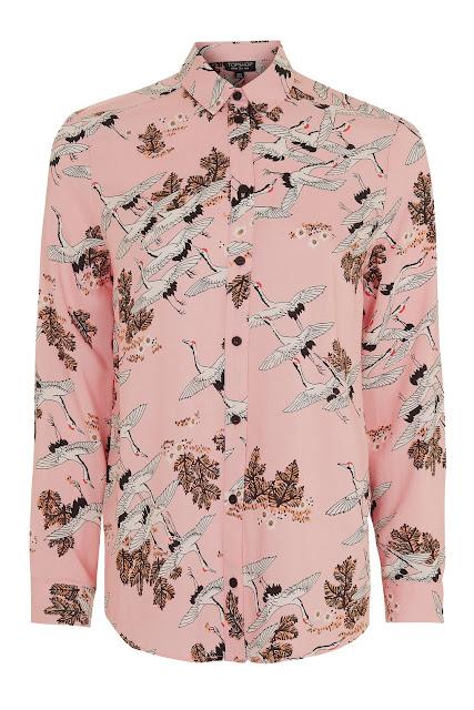 pink bird shirt