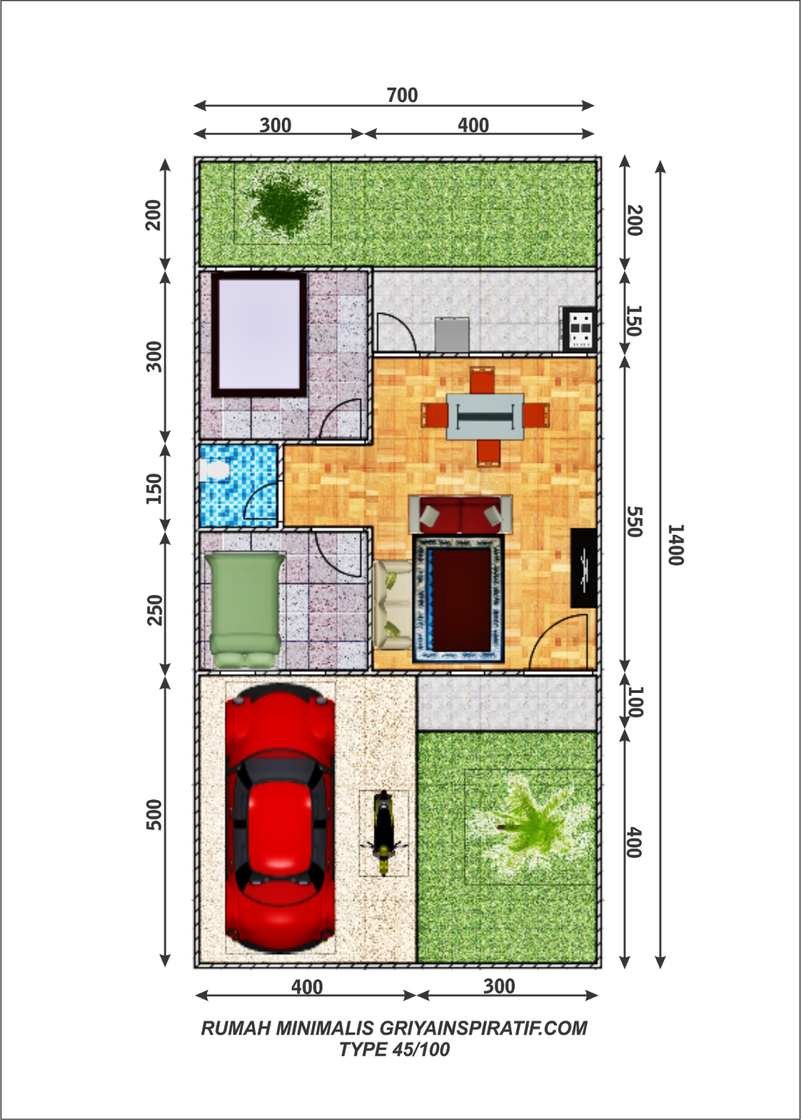 Gambar Desain Rumah Minimalis Type 45 100 Terbaru Desain Rumah