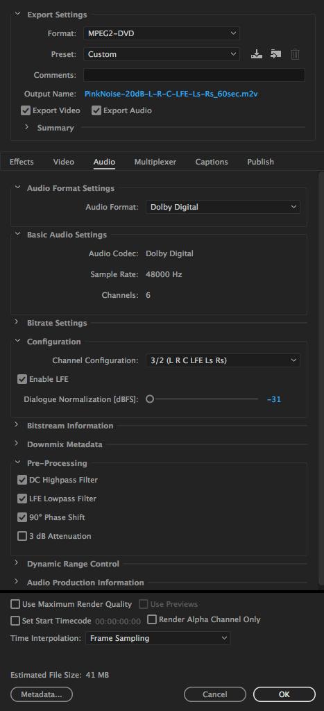 human user: No more Dolby AC3 in Adobe Media Encoder 2018