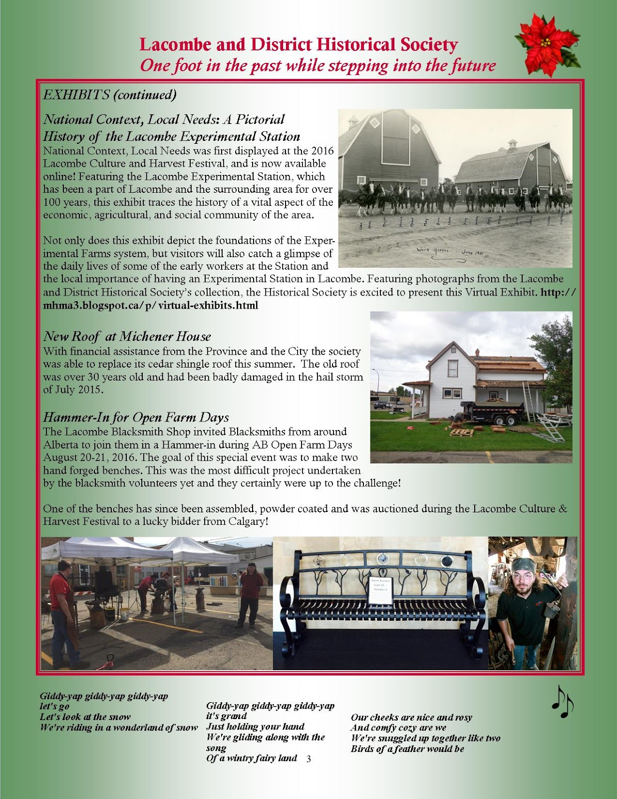 Lacombe & District Historical Society: 2016 Christmas Newsletter
