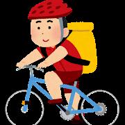 自転車便のイラスト