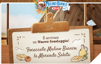 Logo Mulino Bianco Sondaggio ''Focaccelle'' : guadagni 30 chicchi