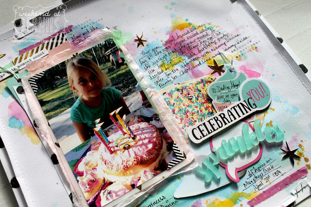 """"""" Celebrating You"""" layout by Bernii Miller for Sugar Maple Paper co using the Cake for Breakfast kit"""