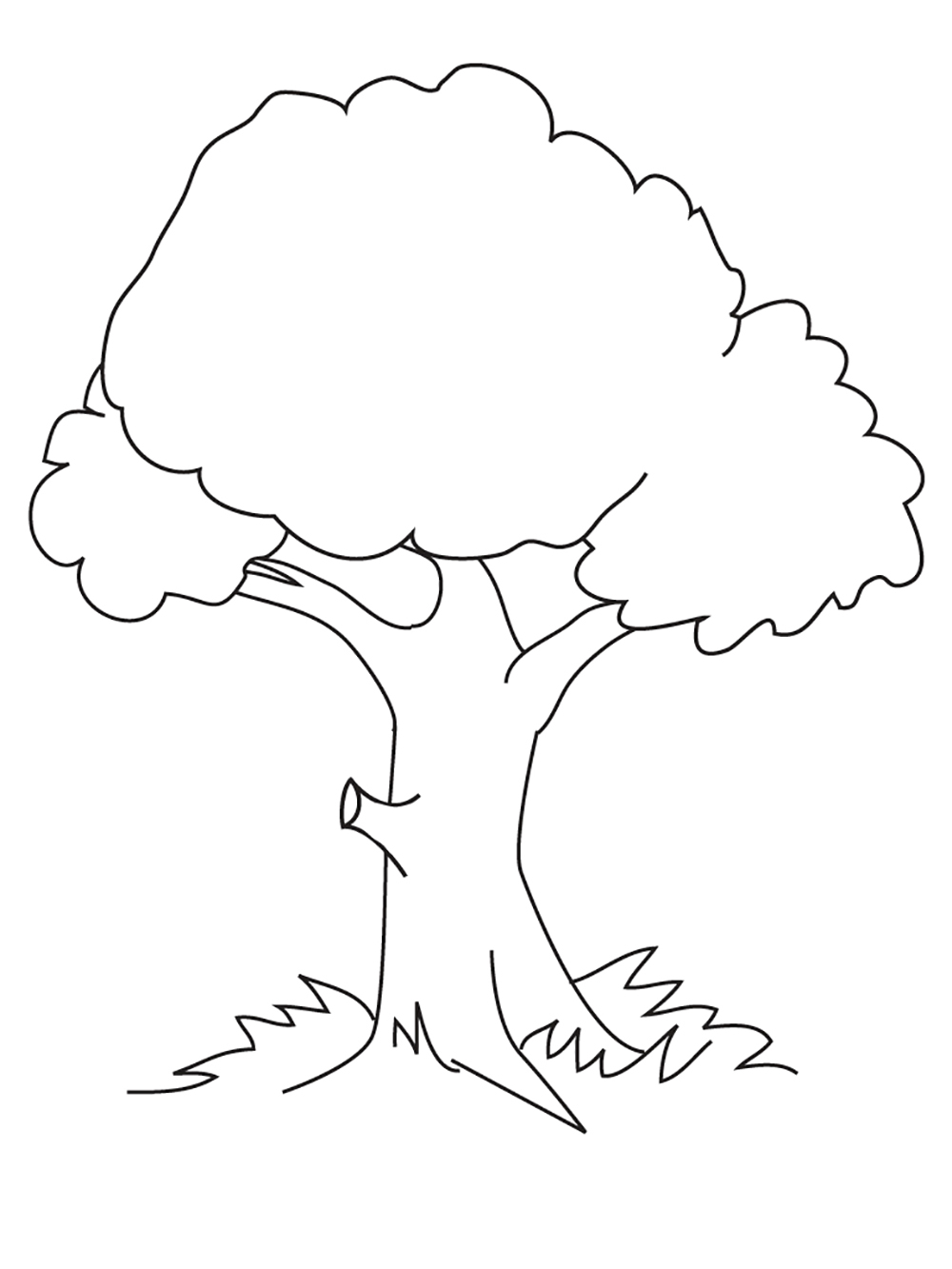 coloring pages of tree | Coloring For Nature And Food Picture