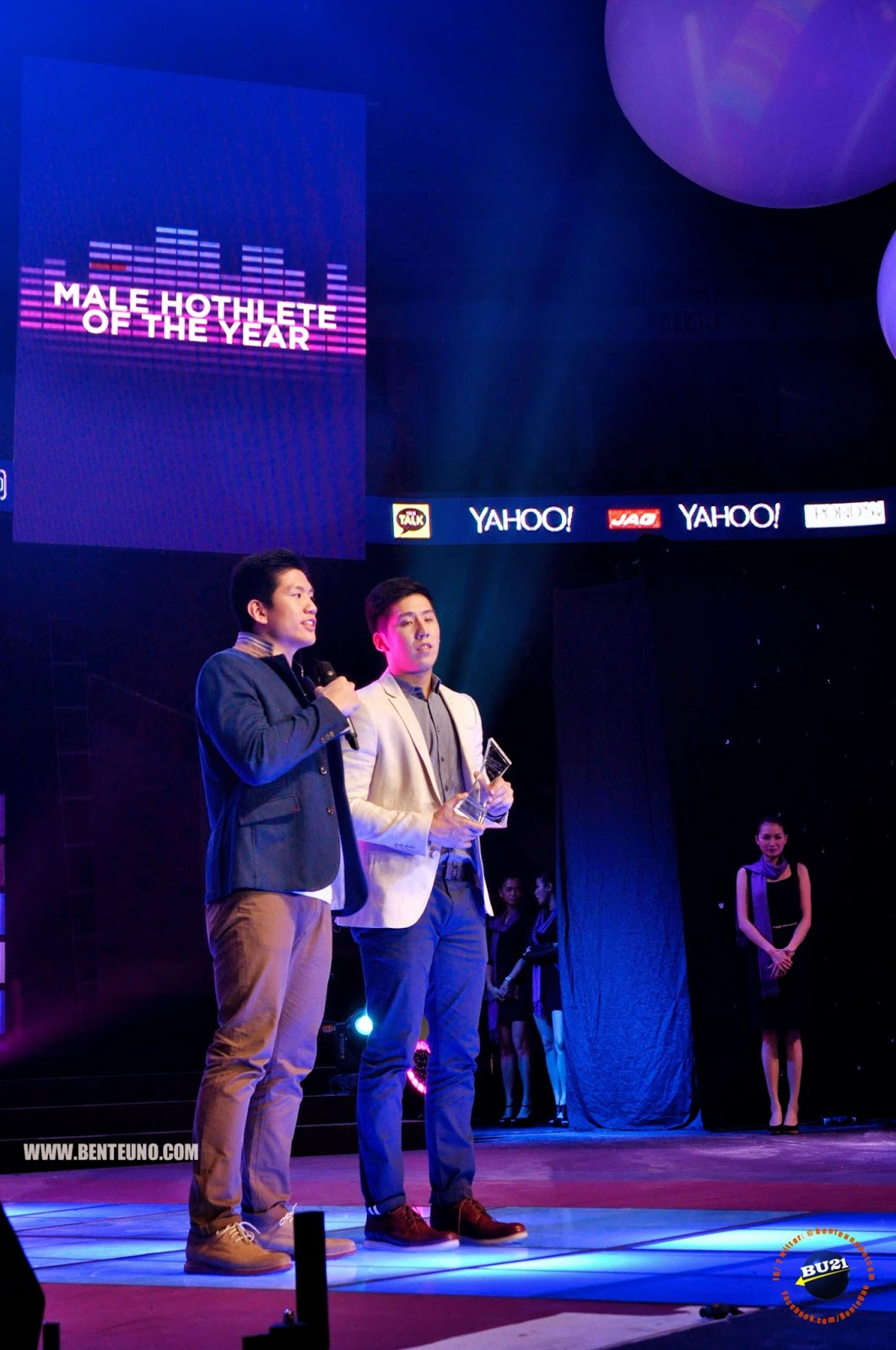Jeric Teng and Jeron Teng, Male Hothlete of the Year at Yahoo Celebrity Awards 2014