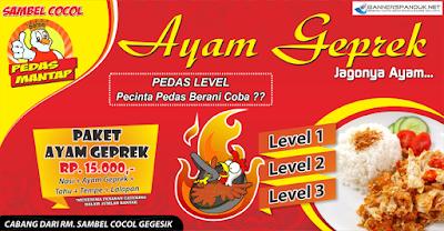 Banner Spanduk Ayam Geprek Terbaru 2018 cdr